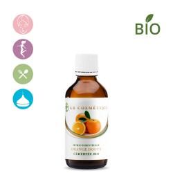 Huile essentielle d'Orange douce certifiée Bio